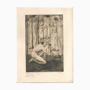 Mein Weg mit dem Weib # 13 - Original Radierung von WR Rehn 1919