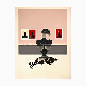 Figuren - Original Siebdruck von Giuseppe Guerreschi - 1974 1974
