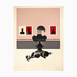 Figures - Original Screen Print by Giuseppe Guerreschi - 1974 1974