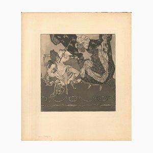 The Libertine - Original Radierung und Aquatinta von Franz von Bayros - 1907 1907
