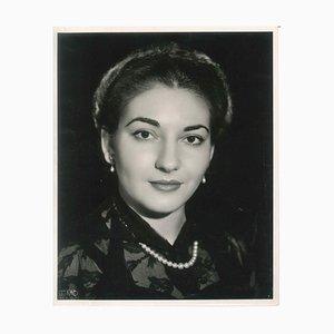 The Young Callas - Fotografía original vintage de Maria Callas - Finales de 1950-51 1950-51