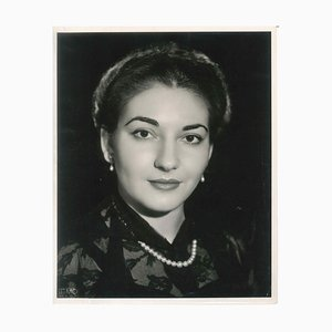 The Young Callas - Photographie Originale Vintage de Maria Callas - Fin des années 1950-51 1950-51