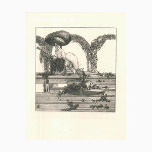 Judith Beheading Holofernes - Heliogravure by Franz von Bayros - 1907 1912
