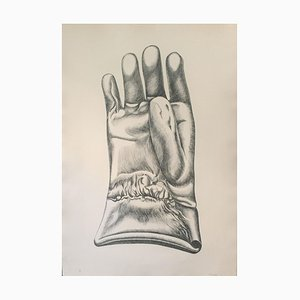 Black and White glove - Original Etching by Giacomo Porzano - 1972 1972