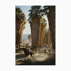 Palm Spring Riders Oversize C Print Framed in White by Slim Aarons