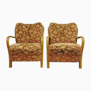 Art Deco Armchairs, 1950s, Set of 2