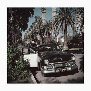 Police Patrolman Oversize C Print Framed in Black by Slim Aarons