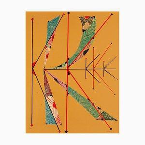 Letter K - Original Lithograph by Raphael Alberti - 1972 1972