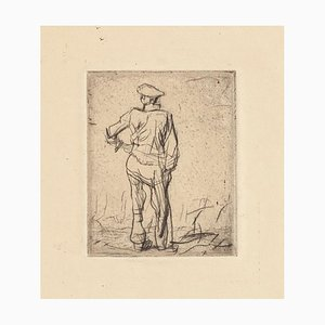 Worker - Original Etching by F. Brangwyn - Mid 20th Century Mid 20th Century