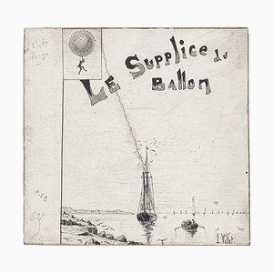 Le Supplice du Ballon - Tinten und Bleistift auf Karton - L. Vallet - 20. Jahrhundert 20. Jahrhundert