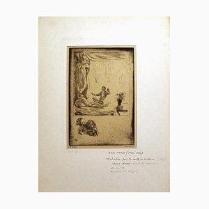 Illustration for ''Le Conte de Voltaire - Etching by Henri Farge - 1920s 1920s