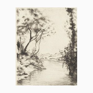 River - Original Lithograph by Marcel Roche - Early XX century Early XX century