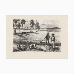 Hunting - Original Set Three Prints Artworks by Eugenio Cecconi - 1980 1980