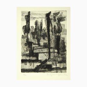 Trees - Original Etching by L. Bianchi Barrivera - 1964 1964