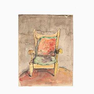 Stuhl - Original Zeichnung in Aquarell - 20. Jahrhundert 20. Jahrhundert