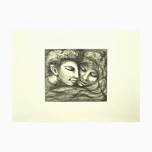 Lovers - Original Etching by Carlo Levi - 1964 1964