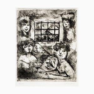 Prisoners - Original Etching by Mino Maccari - 1964 1964