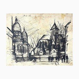 Basilika des Heiligsten Herzens von Paris - Originalzeichnung - 20. Jahrhundert 20. Jahrhundert