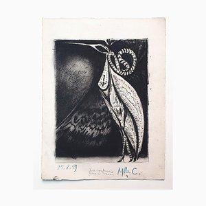Grabado Original Bird de Marcel Guillard - 1959 1959