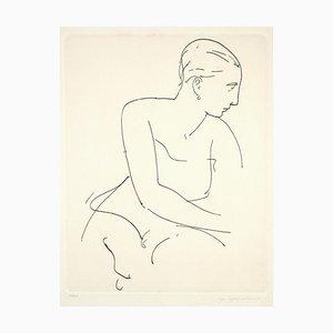 Profile of Woman - Radierung und Kaltnadel von U. Capocchini - 1964 1964