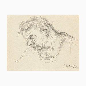 Gloom - Original Pencil Drawing by S. Goldberg - 1940 1940