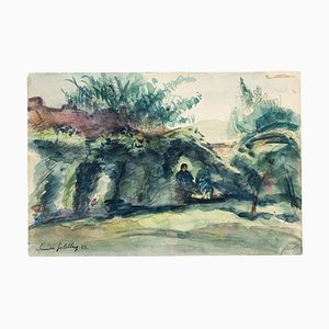 Landscape - Original Aquarell von S. Goldberg - 1953 1953
