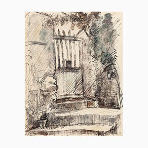 Entry - Original Ink and Watercolor by S. Goldberg - 1952 1952