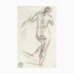 Nude from the Back - Original Bleistiftzeichnung von S. Goldberg - Mid 20th Century Mid 20th Century