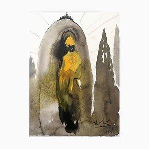 Quis ascendet in Montem Domini? - Original Lithographie von S. Dalì - 1964 1964