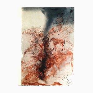 Hircus caprarum super faciem terræ - Original Lithograph by S. Dalì - 1964 1964