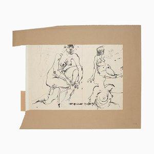 Nude - Original Ink Drawing by Sergio Barletta - 1959 1959