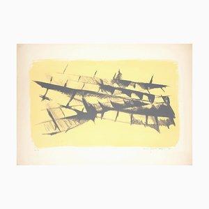 Abstract Composition - Original lithograph nu M. Celiberti - 1961 1961