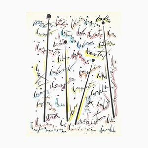 Buchstabe I - Handkolorierte Lithographie von Raphael Alberti - 1972 1972