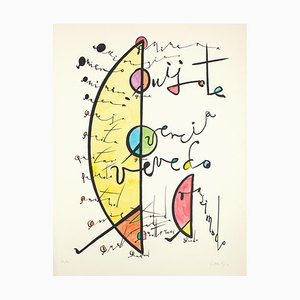 Letter D - Hand-Colored Lithograph by Raphael Alberti - 1972 1972
