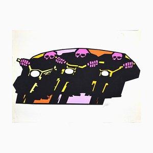 Riders - Original Screen Print by S. Simeoni - 1970s 1970s