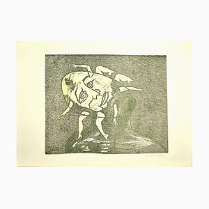 Women - Original Woodcut by Mino Maccari - 1960s 1960