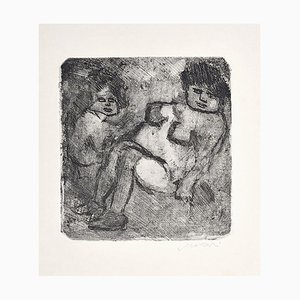 Black and White Nudes - Original Etching by Mino Maccari - 1960s 1960s