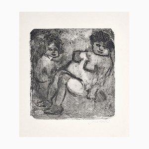 Black and White Nudes - Original Radierung von Mino Maccari - 1960er 1960er