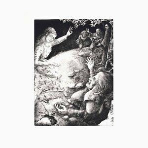 The Paradise - Divine Comedy Canto V - Original Etching by P. Cesaroni - 1983 1983