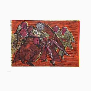 Red Passion - Original Holzschnitt von Mino Maccari - 1960er 1960er