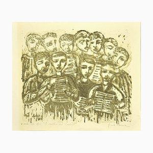 Cantico's Singers - Original Lithografie von Gina Roma - 1970er 1970er Jahre