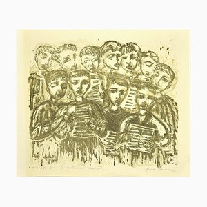 Cantico's Singers - Original Lithograph by Gina Roma - 1970s 1970s