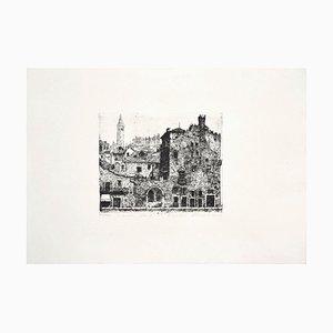 Verona - Original Black and White Etching - 1970s 1970s