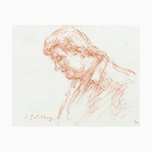 Portrait - Original Pastel by S. Goldberg - Mid 20th Century Mid 20th Century
