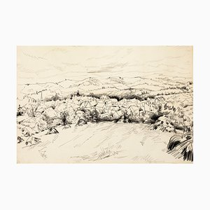 Landscape - Original Mixed Media von T. Gertler - 1970er 1970er