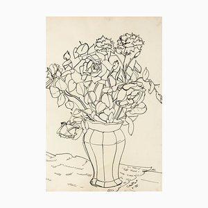 Pastello a olio Still Life- originale di T. Gertler - 1958 1958