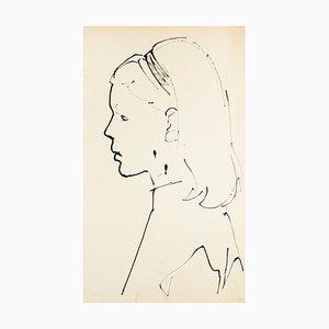 Portrait - Original Öl Pastell von T. Gertler - 1950er 1950er