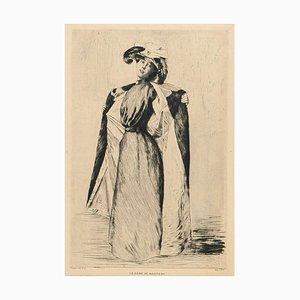 La Dame au Manteau - Original Etching by A.-C. Coppier - 1901 1901