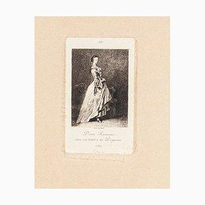 Dame Romaine - Original Radierung und Kaltnadel von Lèon Gaucherel - 1862 1862