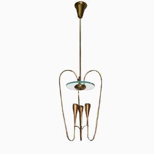 Brass Light by Pietro Chiesa for Fontana Arte
